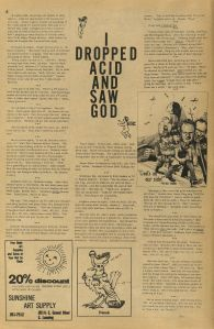 """I Dropped Acid and Saw God,"" from Joint Issue 3:16 (10/30/72)"